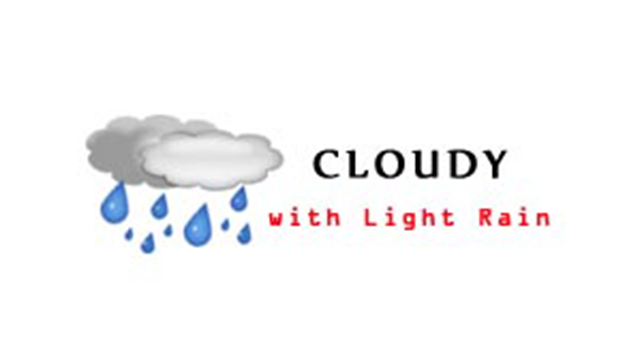 WeatherCloudyLightRain