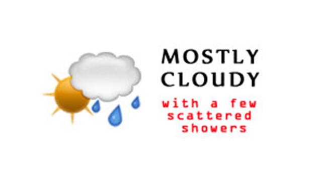 WeatherMostlyCloudyFewsScatteredShowers