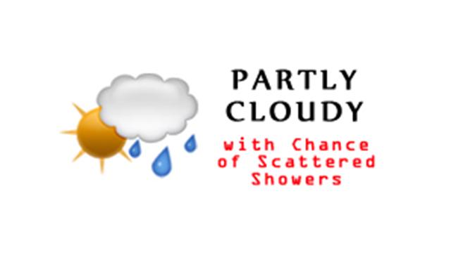 WeatherPartlyCloudyChanceScatteredShowers