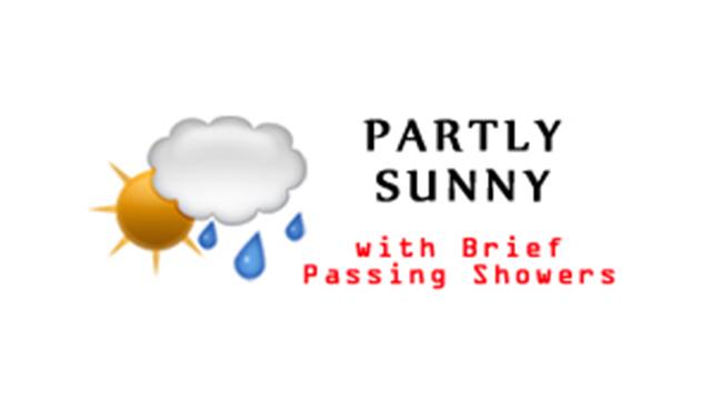 WeatherPartlySunnyBriefPassingShowers