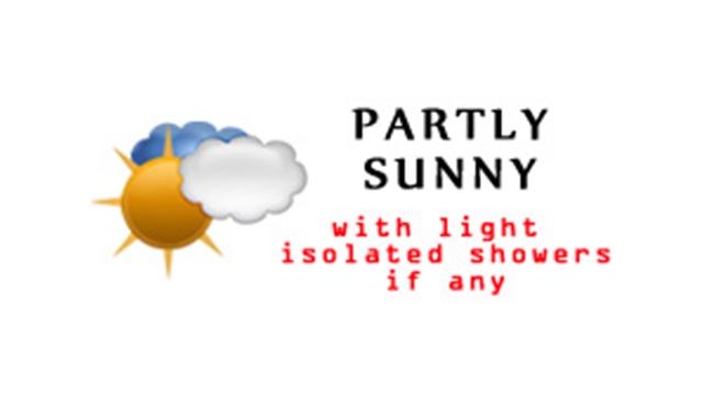 WeatherPartlySunnyLightIsolatedShowersIfAny