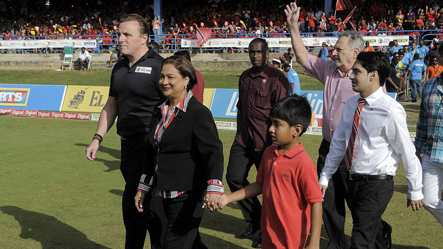 "Damien O'Donohoe (far left): ""We are certainly open to more investment from India""	© Caribbean Premier League"