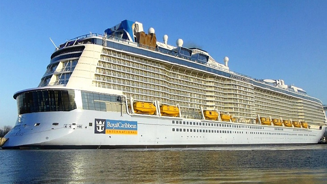 THE ANTHEM OF THE SEAS WAS TOSSED FROM SIDE TO SIDE.