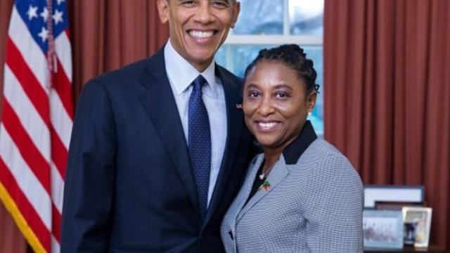 Barack Obama+Thelma Phillip-Browne-1