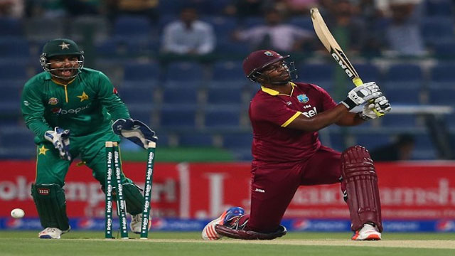 Johnson Charles was one of three West Indies batsmen bowled by Imad Wasim