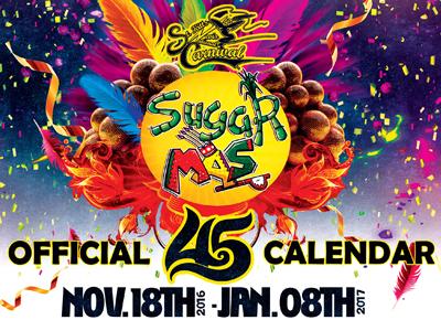 Sugar Mas 45 Calendar of Events