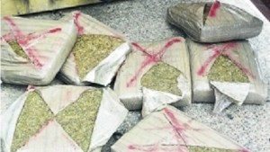 Compressed ganja. (File photo)