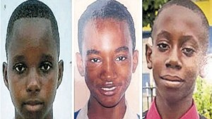 14-year-old Ricardo Brisco, 14-year-old Raymond Givans and 15-year-old Alex Turner (Credit: Jamaica Gleaner)