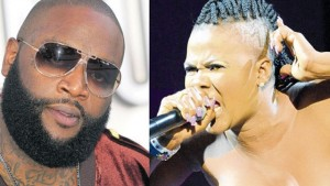 (L-R) Rick Ross and Lady Saw