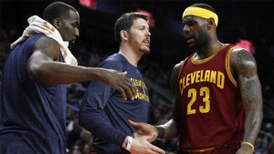 If LeBron James (right) is to win a championship in Cleveland, it will likely be without Mike Miller (center, traded to Portland on Sunday) and Kendrick Perkins, who recently signed with New Orleans.
