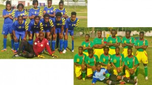 Saint Lucia Women's Under-20 team +Grenada Women's Under-20 team. Photos: Terry Finisterre