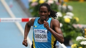 The Bahamas won its first medal of the 15th IAAF World Championships when Jeffery Gibson took bronze in the 400 metres hurdles.