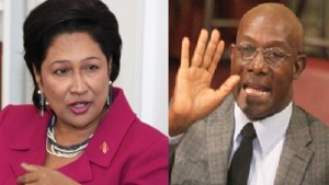 UNC AND PP LEADER PRIME MINISTER KAMLA PERSAD-BISSESSAR (LEFT) AND PNM LEADER KEITH ROWLEY WILL GO HEAD TO HEAD.