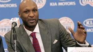 Basketball player Lamar Odom speaks at a news conference announcing his acquisition by the Los Angeles Clippers in Los Angeles, California July 2, 2012.