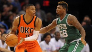 Russell Westbrook, who was 5-of-20 from the field, had a tough time dealing with the Celtics' Marcus Smart, whether he'll admit or not.