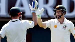 Adam Voges (right) has hit three centuries in his 11 Tests