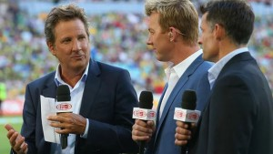 The broadcaster Mark Nicholas, left, wrote that his comments were 'unworthy of the game and disrespectful to a great cricketing legacy'.